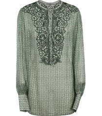 ermanno scervino all-over print perforated shirt