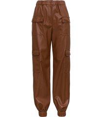 msgm leatheret cargo pants