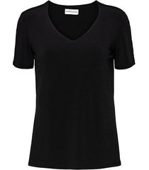&co woman and co top levi black v-hals
