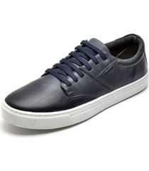 slip on iate sapatãªnis sapatilha confort urbano leve - azul/azul marinho - masculino - couro - dafiti
