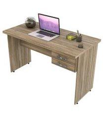 escrivaninha mesa de escritório trevalla 1,20m tampo 30mm carvalho