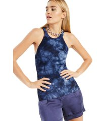 inc cotton tie-dyed halter sweater, created for macy's