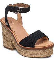 w laynce sandalette med klack espadrilles svart ugg