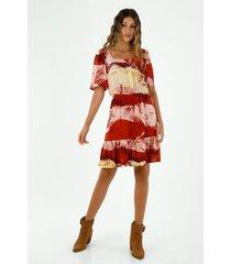 vestido  para mujer topmark, vestidos corto estampado