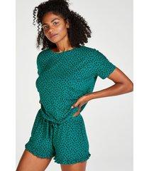 hunkemöller kort pyjamas-set grön