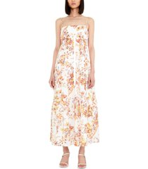 bardot floral flow a-line dress