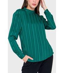 blusa io verde - calce regular