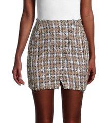iro women's hunch tweed skirt - beige multi - size 36 (4)