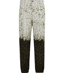 msgm all-over printed cargo pants