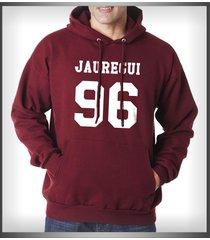 jauregui 96 lauren jauregui on front unisex pullover hoodie maroon