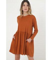 vestido camel sans doute elona
