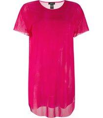 avant toi sheer t-shirt - pink