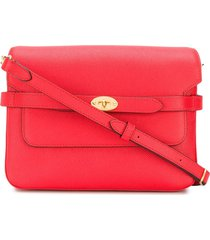 mulberry belted bayswater satchel bag - red