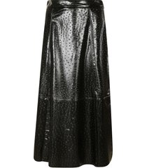msgm long-length straight waist skirt