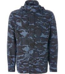 belstaff fieldwood jacket camo ink blue 71050602-80092