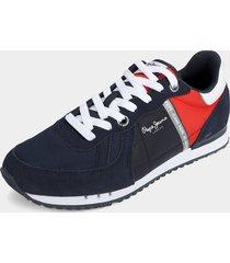 tenis azul navy-rojo pepe jeans