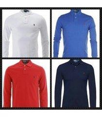 polo ralph lauren men's long sleeve polo shirts- custom fit