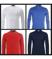 polo ralph lauren men's long sleeve polo shirts- custom fit