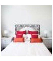 adesivo de parede cabeceira de cama mod. 26 - m 50x120cm