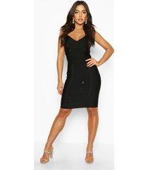 boutique strake mini jurk met strik, zwart