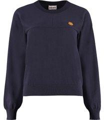 kenzo cotton crew-neck sweater