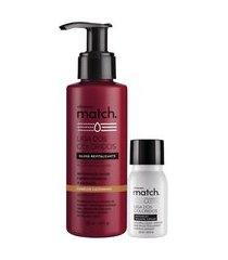 combo match cabelos castanhos: matchplex + gloss revitalizante