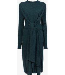 proenza schouler white label merino tied sweater dress melangepetrol/green s