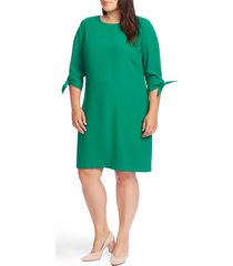 plus size women's cece tie sleeve shift dress, size 18w - green
