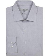camisa dudalina manga longa cetim fio tinto maquinetado listrado masculina (rosa claro, 48)