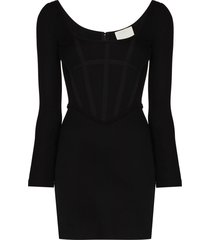 dion lee boned mini dress - black