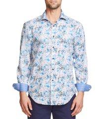 tallia men's slim fit performance stretch long sleeve button down shirt