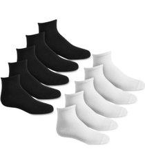 hue women's 10 pack quarter athletic socks