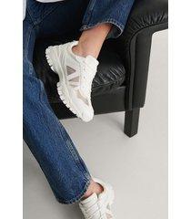 na-kd shoes transparenta mesh-träningsskor - white