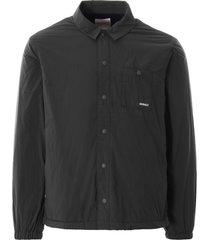 gramicci nylon-fleece coach shirt | black | gm-421542