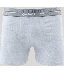 cueca boxer masculina lupo em algodão cinza mescla