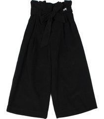 monnalisa black cotton palazzo trousers
