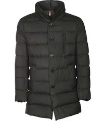 fay button down padded coat