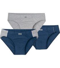slip, pak van 3, blauw/grijs-gemel 8