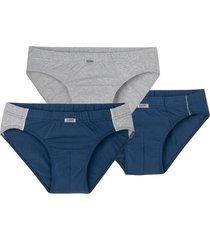 slip, pak van 3, blauw/grijs-gemel 7