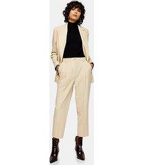 beige peg suit pants - cream