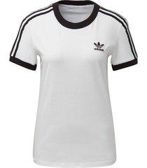 camiseta adidas 3 stripe originals branco