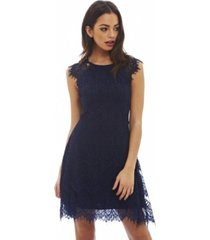 ax paris capped sleeve crocheted lace dress