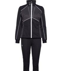 murto w xct softshell set outerwear sport jackets zwart halti