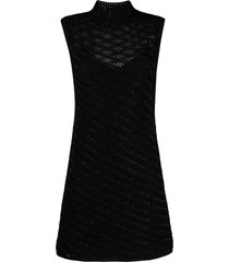 ermanno scervino embellished open-knit dress - black