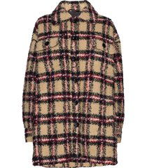 sabi jacket outerwear faux fur multi/patroon stand studio