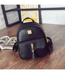 mochila de mujer/ mochila para mujer de 3 piezas-negro