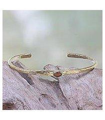 tiger's eye cuff bracelet, 'rustic diva' (indonesia)