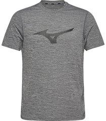 core graphic rb tee t-shirts short-sleeved grå mizuno