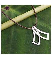 men's sterling silver necklace, 'siam bow tie' (thailand)
