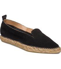 pilgrim suede loafer sandaletter expadrilles låga svart royal republiq